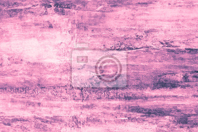 Purple blots on a pink canvas. Pink paint stains on the wall. Abstract pattern of watercolor style on pink background. Abstract purple illustration. Design template. Light violet gradient of watercolo