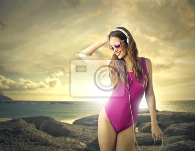Purple swim suit