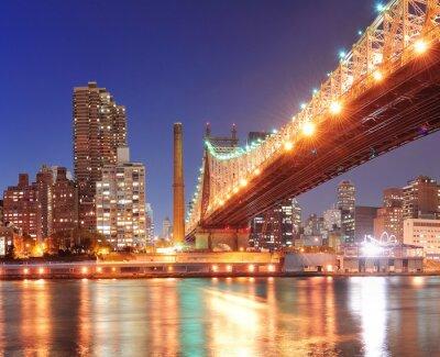 Canvas print Queensboro Bridge and Manhattan