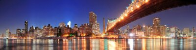 Canvas print Queensboro Bridge and Manhattan