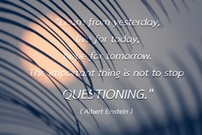 Canvas print Quote by Albert Einstein background.