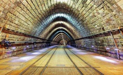 Canvas print Railroad tunnel