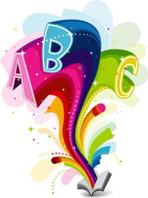 Canvas print Rainbow Education