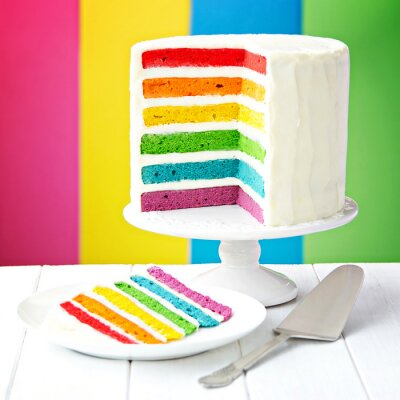 Canvas print Rainbow layer cake