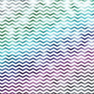 Canvas print Rainbow White Metallic Faux Foil Chevron Pattern Chevrons Textur