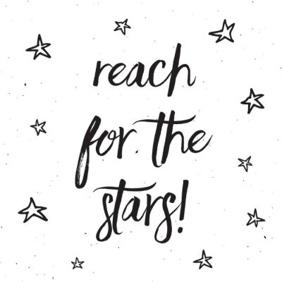Canvas print Reach for the stars typography design