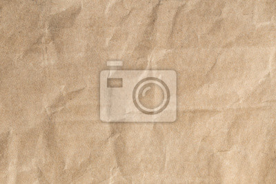 Canvas print Recycle brown paper crumpled texture,Old paper surface for background