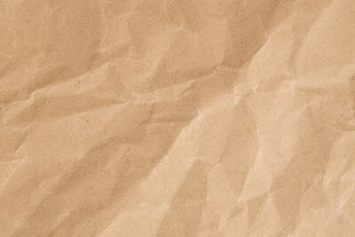 Canvas print Recycle brown paper crumpled texture,Old paper surface for background.