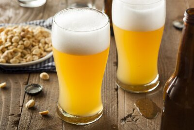 Canvas print Resfreshing Golden Lager Beer