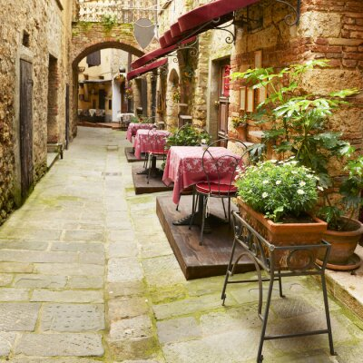 Canvas print Restaurant in Tuscany