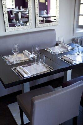 Canvas print Restaurant, salle, bistrot, tables, couverts, gastronomie