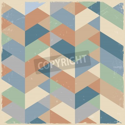 Canvas print Retro geometric background in pastel colors