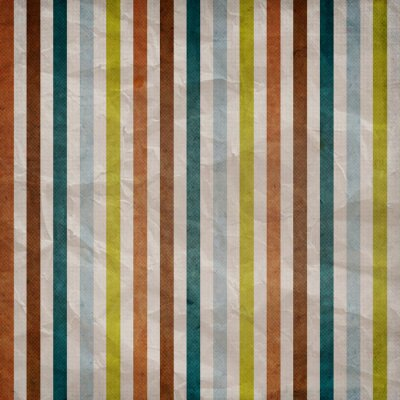 Canvas print Retro stripe pattern - background with colored brown, blue, grey