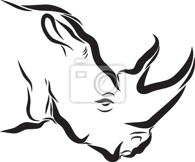 Rhinoceros Line Art