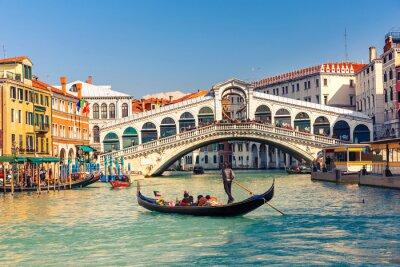 Canvas print Rialto Bridge in Venice