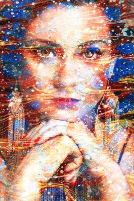 Canvas print ritratto multicolore