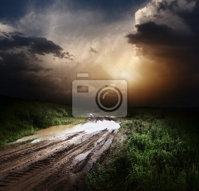 Canvas print Road