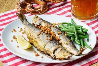 Canvas print roasted mackerel
