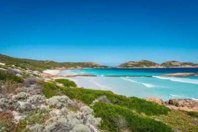 Canvas print Rocks on the beach, Lucky Bay, Esperance, Western Australia