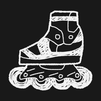 Canvas print Roller skate doodle