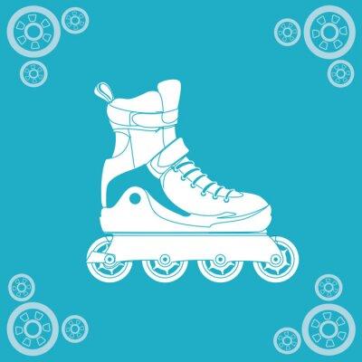 Canvas print Roller skating design