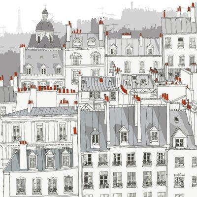 Canvas print Roofs of Paris