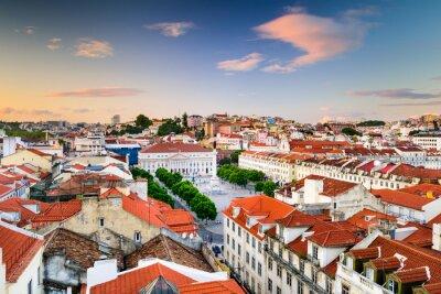 Canvas print Rossio Square of Lisbon