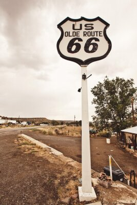 Canvas print Route 66 sign