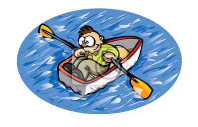 Canvas print rowing