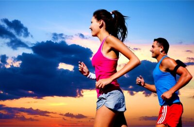 Canvas print Running, outdoor, fit.