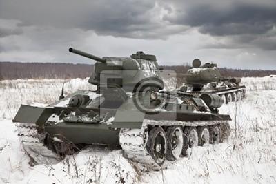 Canvas print Russian Tanks T34