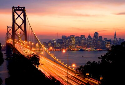 Canvas print San Francisco Sunset