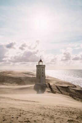 Canvas print Sandstorm at the lighthouse
