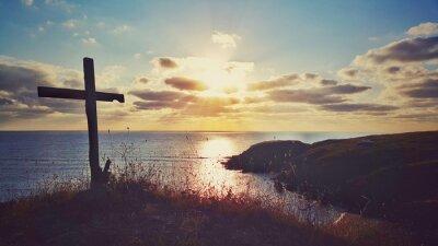 Canvas print Scenic sunrise over the coastline, Bulgaria