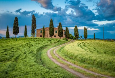 Canvas print Scenic view of typical Tuscany landscape, Italy