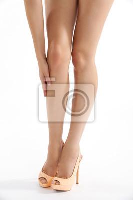Schöne lange Beine in sexy High Heels