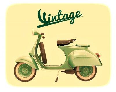 Canvas print Scooter Vintage