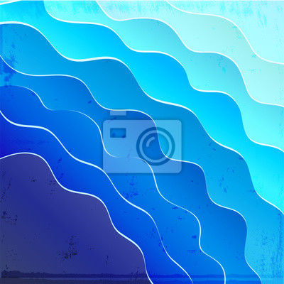 Sea background with blue waves