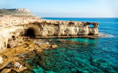Canvas print Sea caves panorama