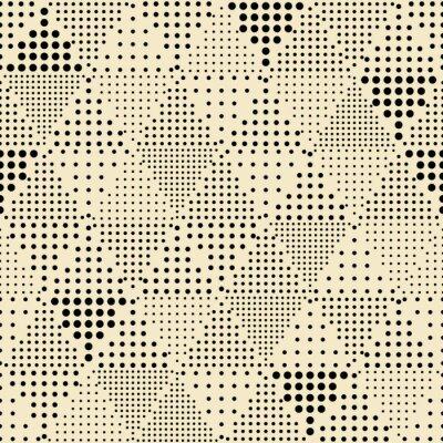 Canvas print Seamless abstract modern triangle geometric pattern