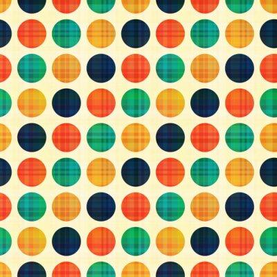 Canvas print seamless abstract polka dots pattern