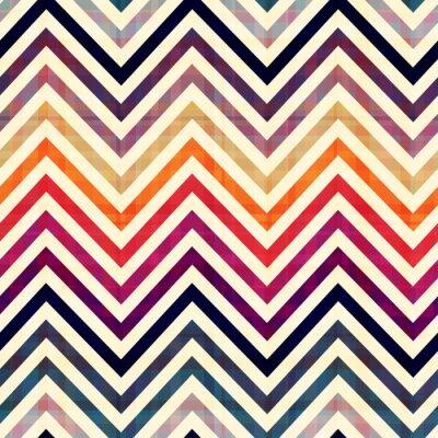 Canvas print seamless chevron pattern