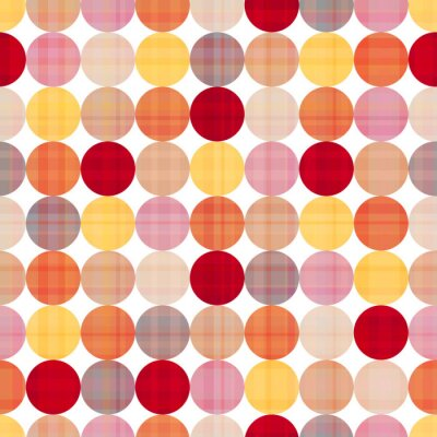 Canvas print seamless circles background texture