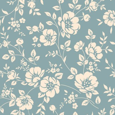 Canvas print Seamless floral pattern