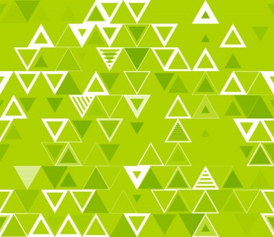 Canvas print Seamless geometric pattern with triangles.