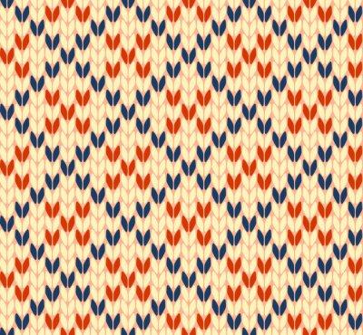 Canvas print Seamless knitting vector pattern