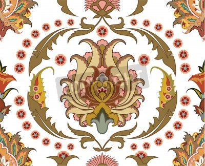 Canvas print seamless ornament with east design