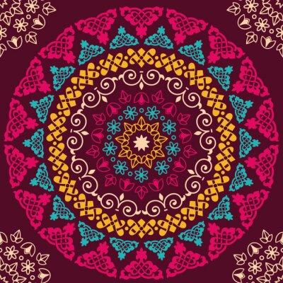 Canvas print Seamless pattern. Vintage decorative elements