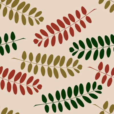 Seamless pattern with a autumn branches