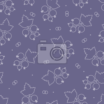 Seamless pattern with blackcurrant,. Vector